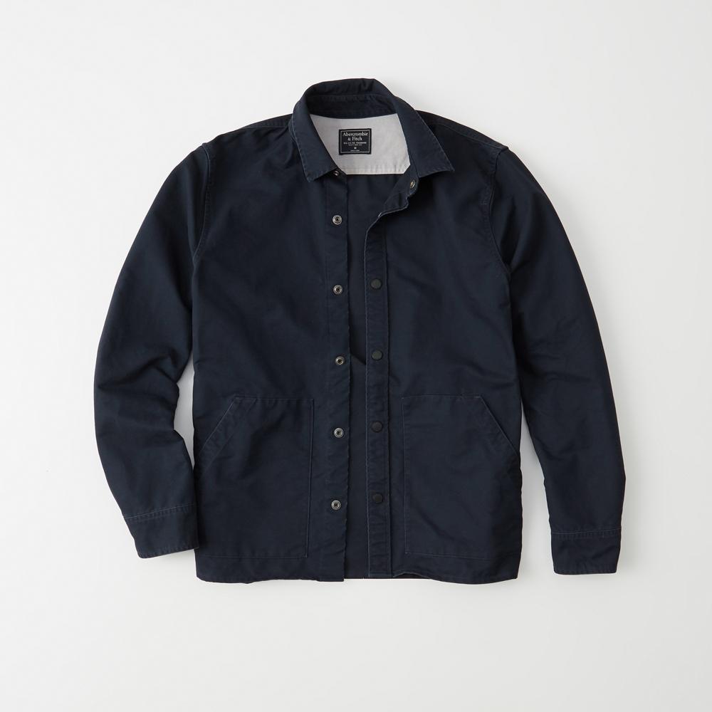 Mens Snap Up Shirt Jacket Mens Clearance