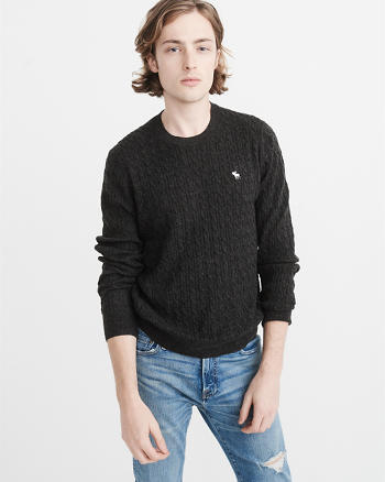 ANF Icon Cable Knit Sweater