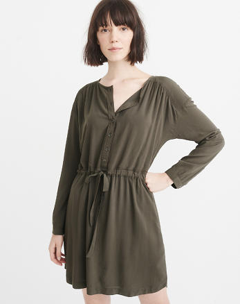 ANF Tie-Waist Dress