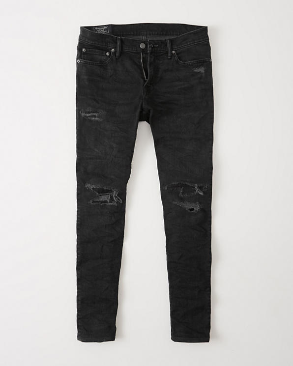 Mens Ripped Super Slim Jeans | Mens Bottoms | Abercrombie com