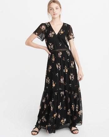 ANF Short-Sleeve Maxi Dress