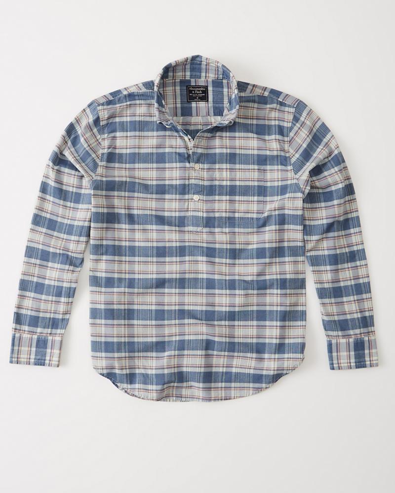 620b8cd96bee Mens Madras Popover Shirt
