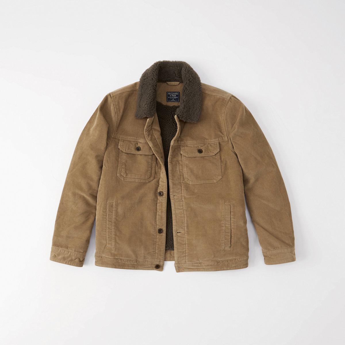 Sherpa-Lined Corduroy Jacket