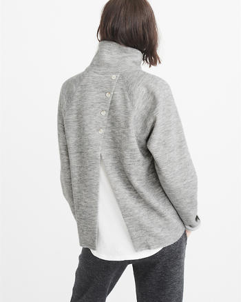 ANF Flyaway Cushy Knit Turtleneck