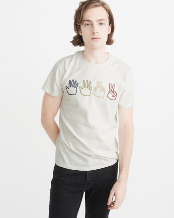 ANF Embroidered Graphic Tee