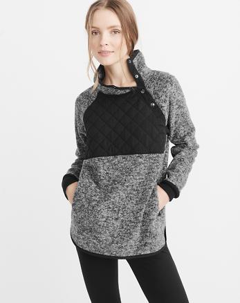 ANF Asymmetrical Snap Pullover