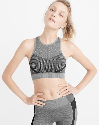 ANF Active Seamless High-Neck Bra