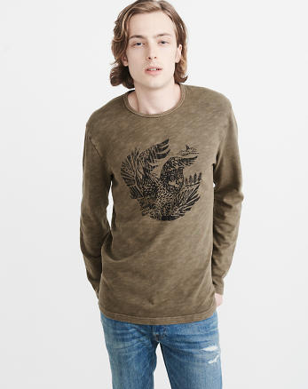 ANF Woodcut Long-Sleeve Graphic Tee