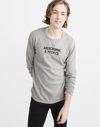 ANF Reversible Long-Sleeve Graphic Tee