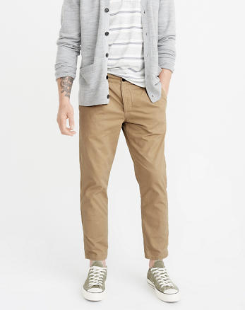 ANF Athletic Slim Cropped Chinos