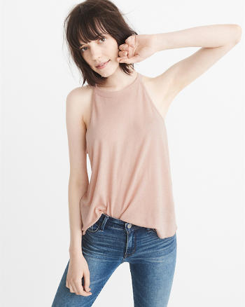 ANF Linen Blend High-Neck Tank