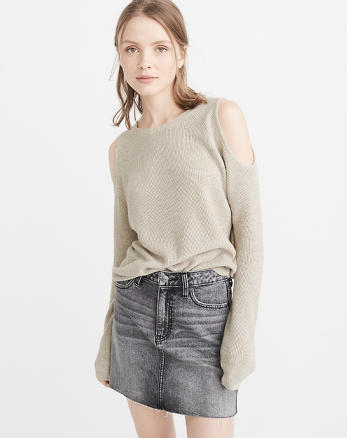 ANF Cold-Shoulder Sweater