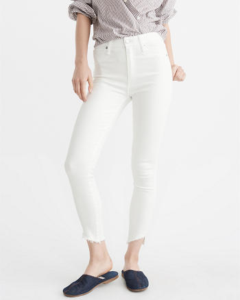 ANF High-Rise Ankle Jeans