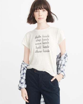 ANF Embroidered Statement Tee