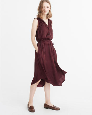 ANF Sleeveless Midi Dress