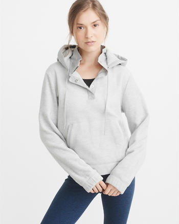 ANF Hooded Fleece Popover