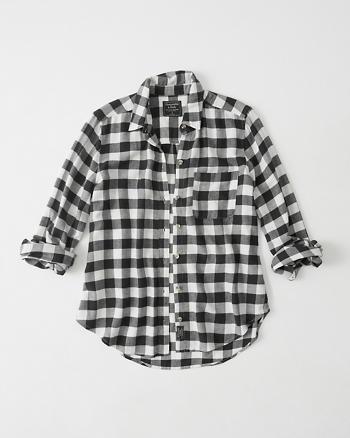 Womens plaid flannel shirt womens tops for White and black flannel shirt womens