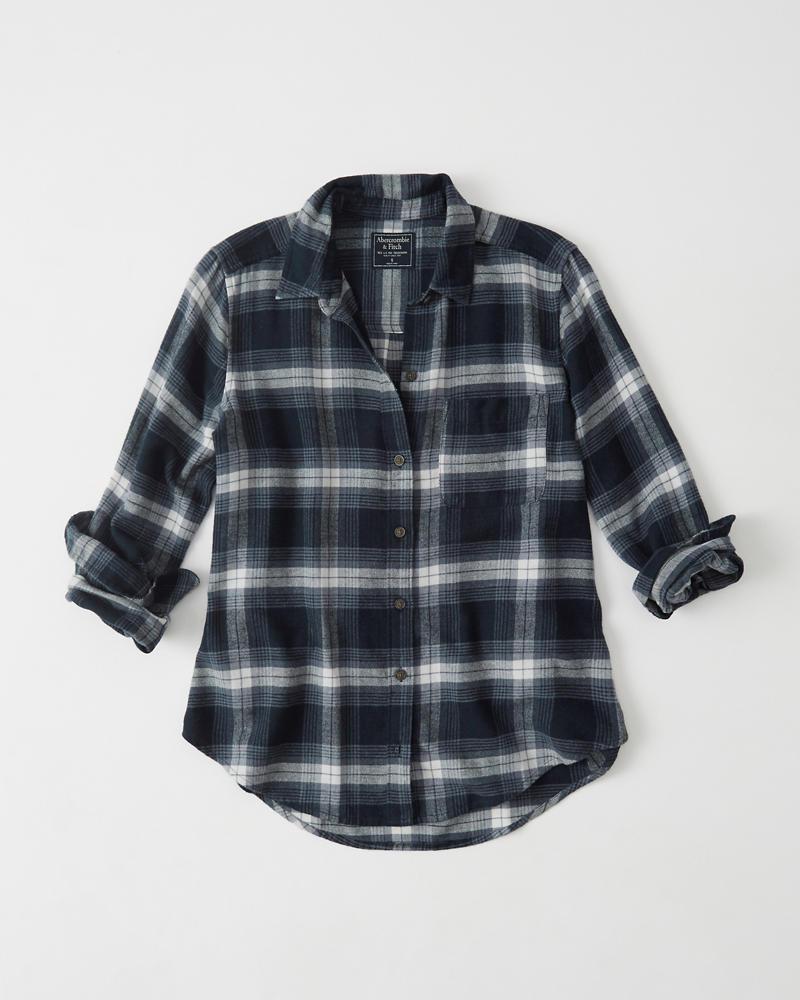 Womens plaid flannel shirt womens summer sale for Ladies brown check shirt