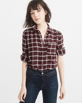 ANF Plaid Flannel Shirt