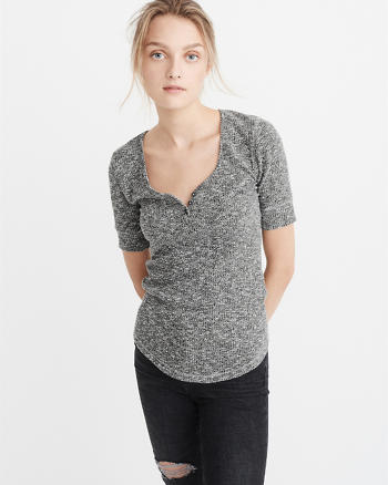 ANF Ribbed Henley