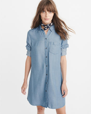 ANF Chambray Shirtdress