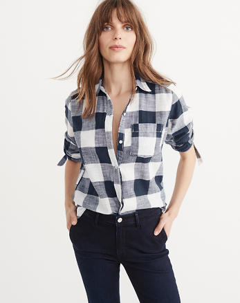 ANF Tie Sleeve Shirt