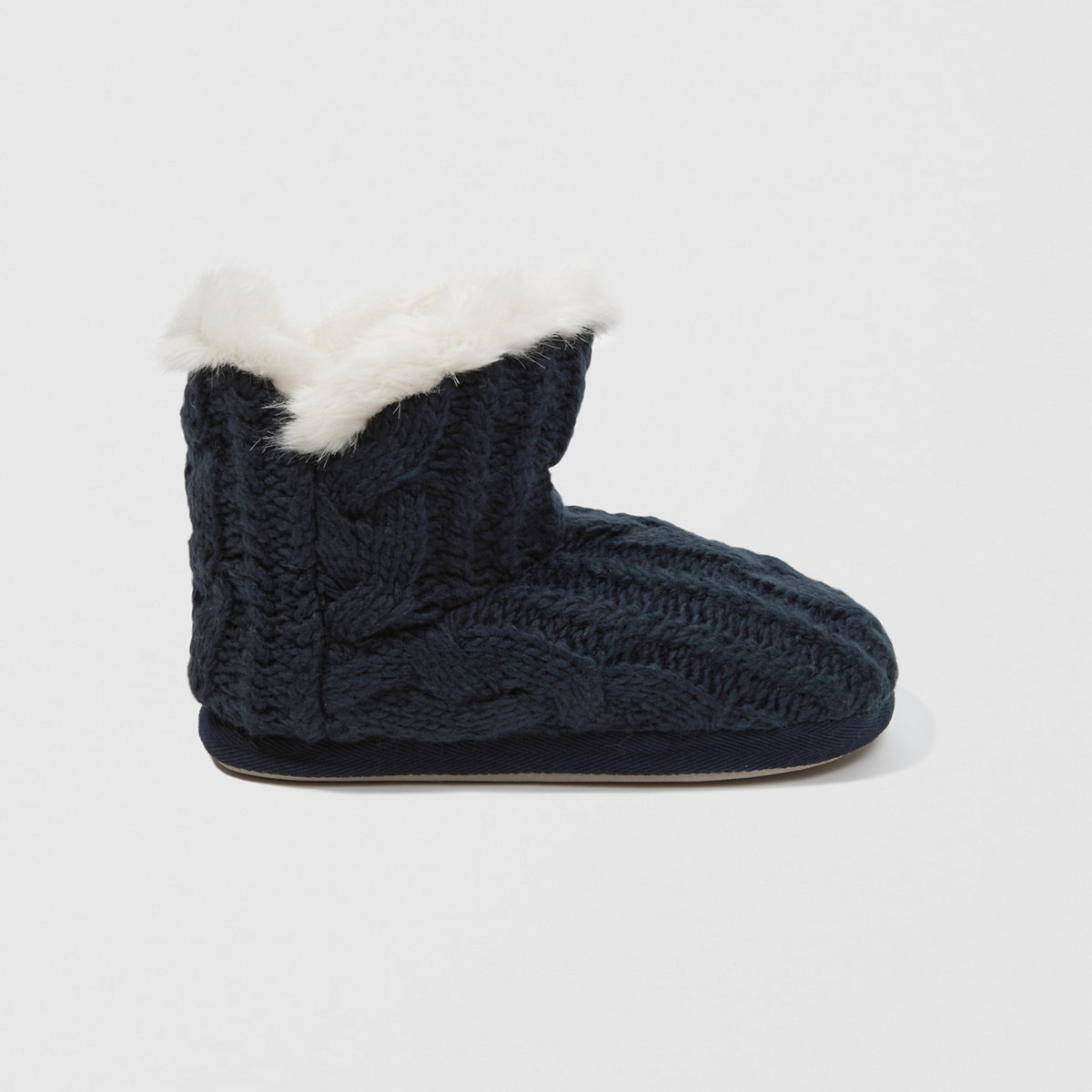 Cable Knit Bootie Slipper