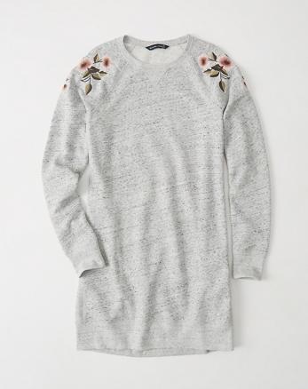 ANF Embroidered Sweatshirt Dress