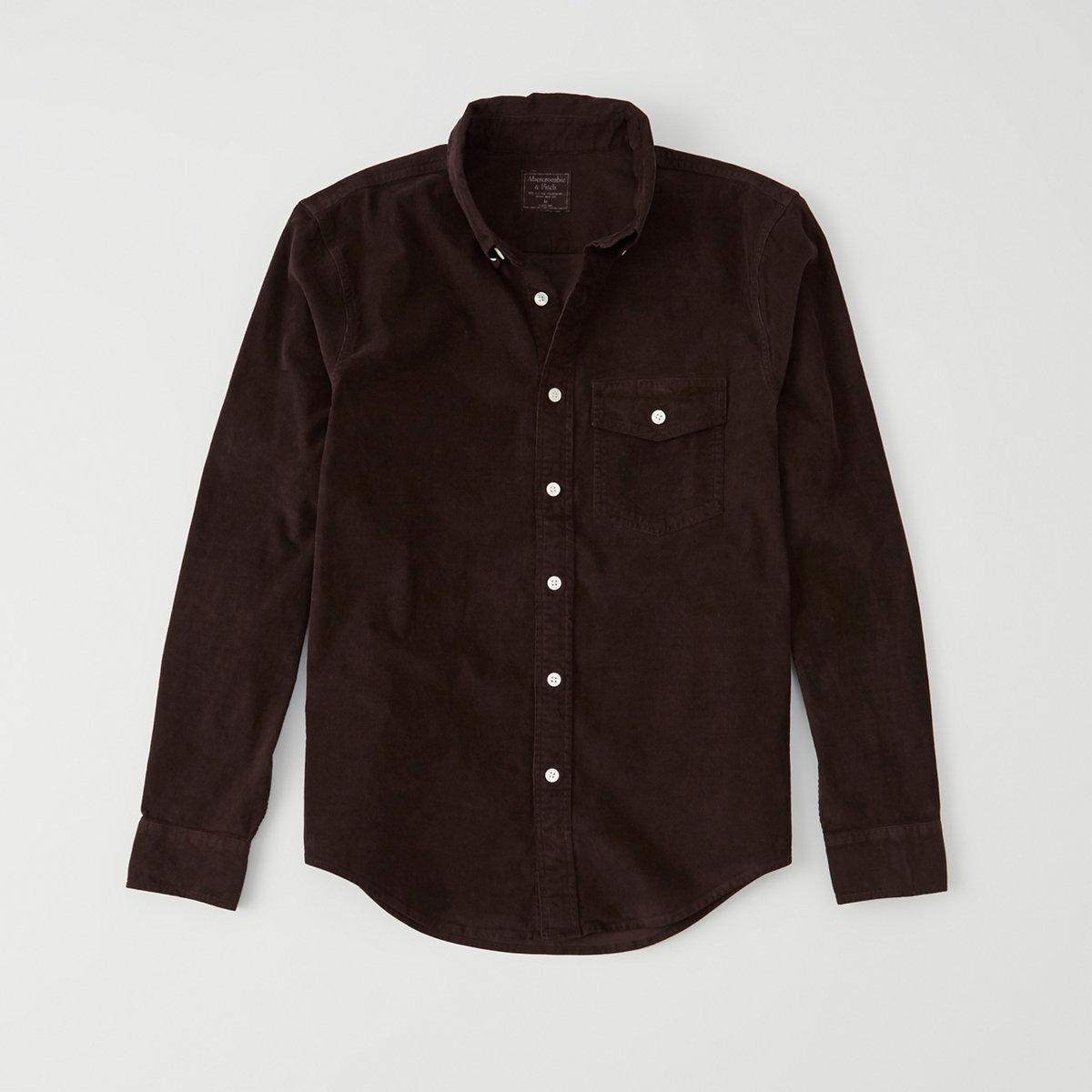 Garment Dye Corduroy Shirt