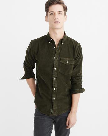 ANF Garment Dye Corduroy Shirt