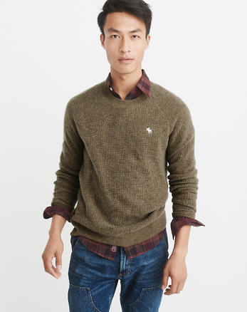 ANF Icon Cashmere Waffle Sweater