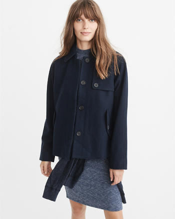 ANF Wool-Blend Swing Coat