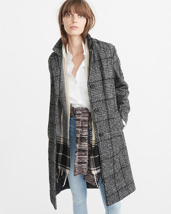 ANF Long Wool-Blend Coat