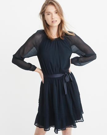ANF Chiffon Raglan Dress