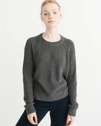 ANF Cropped Crewneck Sweater
