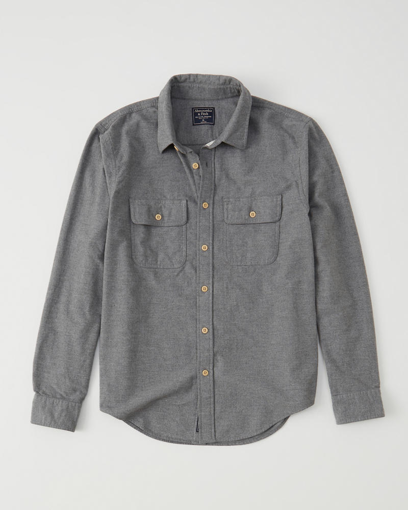 cad05f0df Mens Chamois Shirt | Mens Clearance | Abercrombie.com