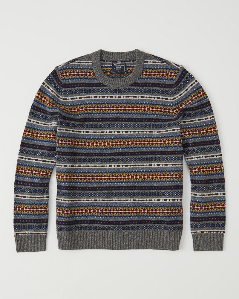 Mens Fair Isle Sweater | Mens Tops | Abercrombie.com