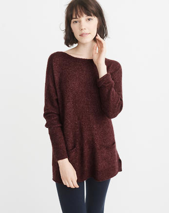 ANF Boatneck Pocket Sweater