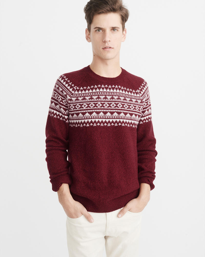 Mens Crewneck & V-Neck Sweaters | Abercrombie & Fitch