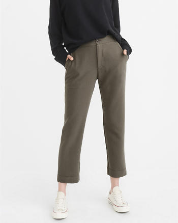 ANF High-Rise Drapey Cropped Pant