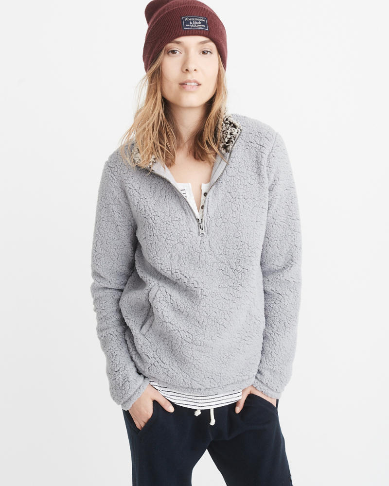 Top Womens Sherpa Half-Zip Pullover   Womens Sale   Abercrombie.com VP18