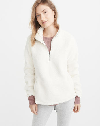 ANF Half-Zip Sherpa Pullover