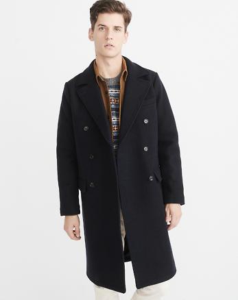 ANF Italian Wool-Blend Greatcoat