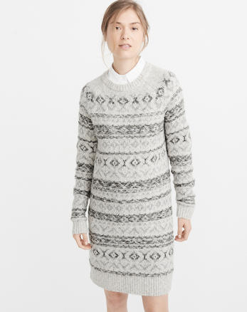 ANF Fair Isle Sweater Dress