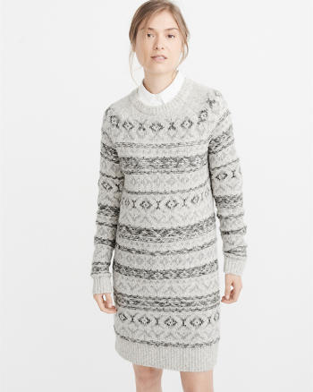 ANF Fair Isle Sweater Dress