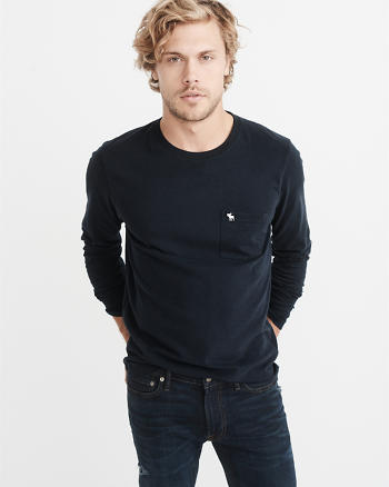ANF Long-Sleeve Icon Pocket Tee
