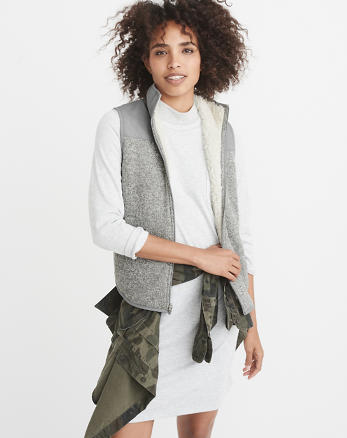 ANF Sherpa-Lined Vest