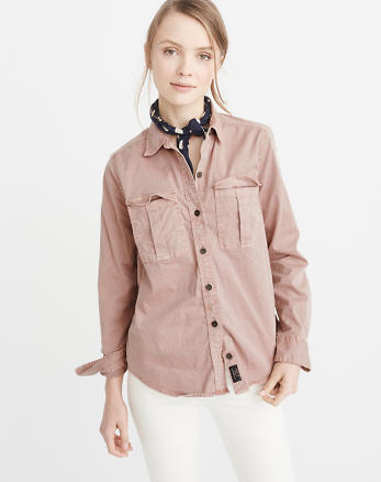 ANF Twill Military Shirt