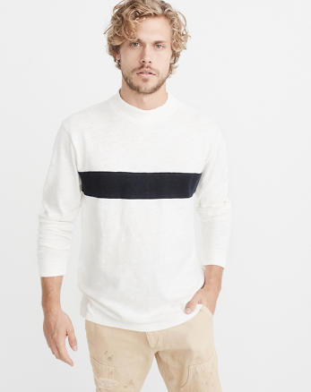 ANF Long-Sleeve Mock Neck