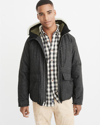 ANF Down-Filled Hooded Deck Jacket